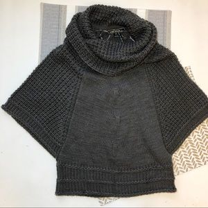 Love Stitch gray chunky knit kimono sweater Medium